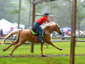 Hall of Fame Jousting Tournament at Natural Chimneys
